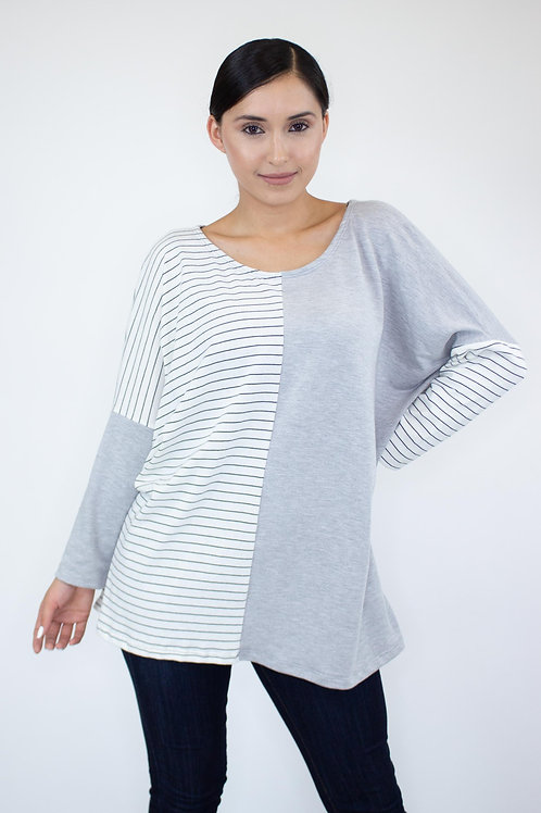 Color Block Comfortable Top
