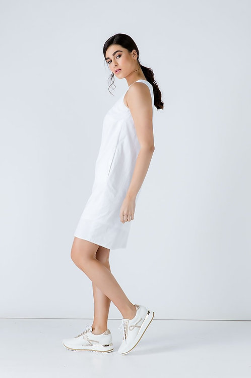 White Cotton Sack Dress