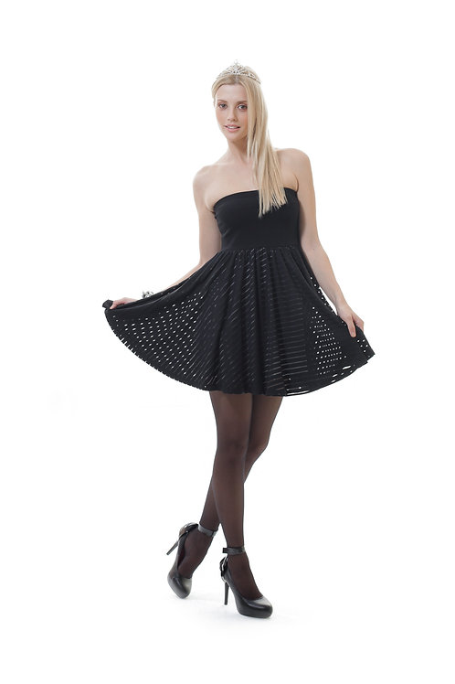 Strapless Two-In-One Mini Dress