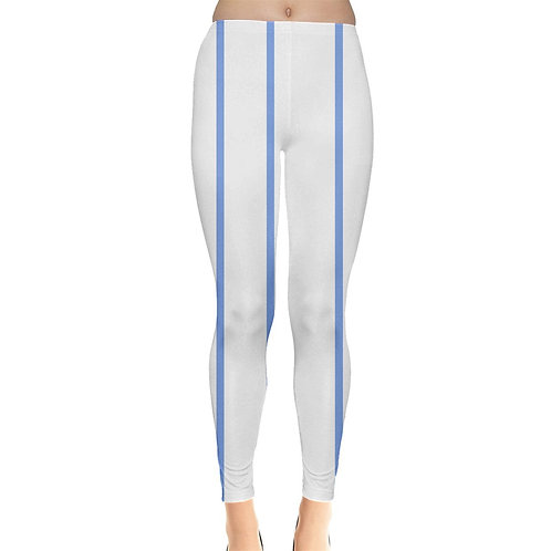 Blue White Stripes Leggings