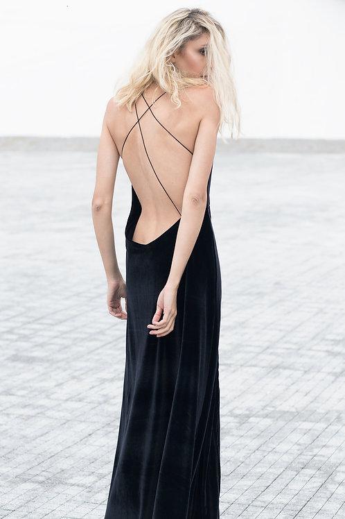 Bareback Velvet Dress