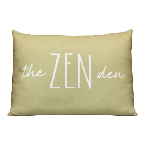 """20"""" X 4"""" X 14"""" Olive Polyester Pillow"""