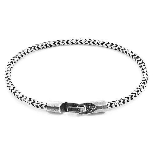 White Noir Talbot Silver & Rope Bracelet