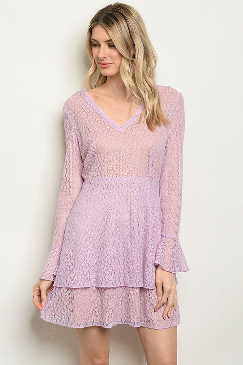 Lavender Nude Dress