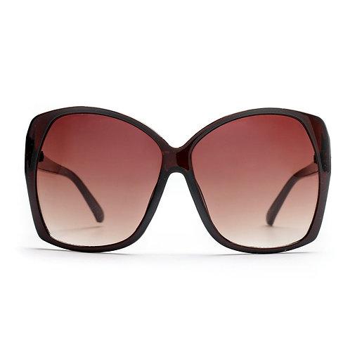 Brown 70s Retro Oversized Sunglasses