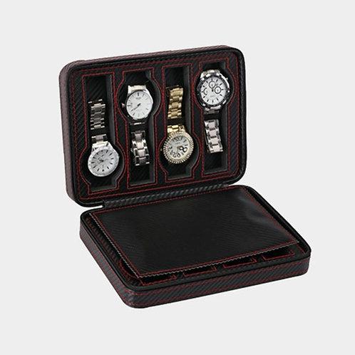 8 Grids PU Leather Watch Box Storage Watches