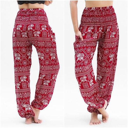 Burgundy ELEPHANT Pants Women Boho Pants Hippie Pants Yoga