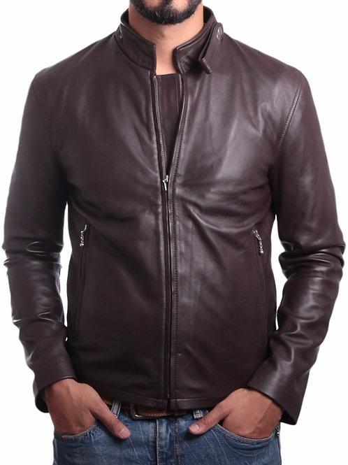 Jordan Mens Leather Jacket