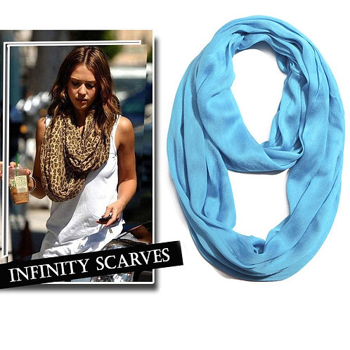 Wrinkle Infinity Silk Scarf
