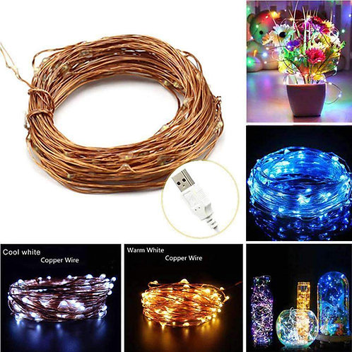 AMZER Fairy String Light LED 10m Waterproof USB Operated Festival Lamp