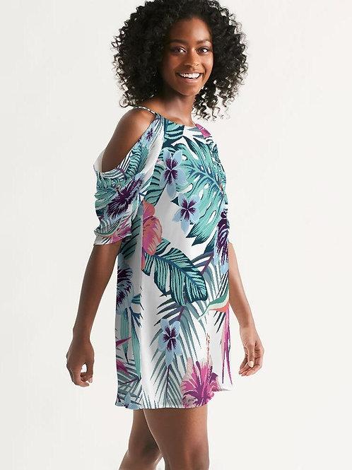 Women's Island Life Open Shoulder A-Line Dress
