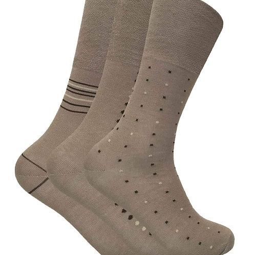 3 Pairs Mes Non Elastic Bamboo Socks