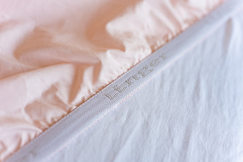 100% Supima Cotton, 400 Thread Count Percale Solid Fitted Sheet