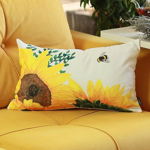Sunflowers Lumbar Throw Pillow Cover