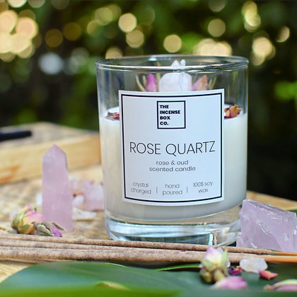 Rose Quartz Candle & Incense Sticks