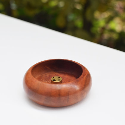 Rosewood Bowl Incense Holder