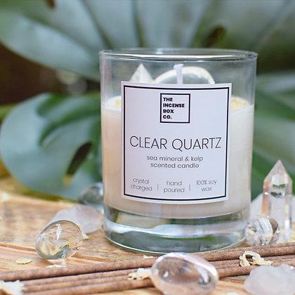 Clear Quartz Candle & Incense Sticks