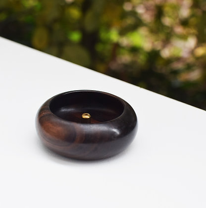 Ebony Bowl Incense Holder