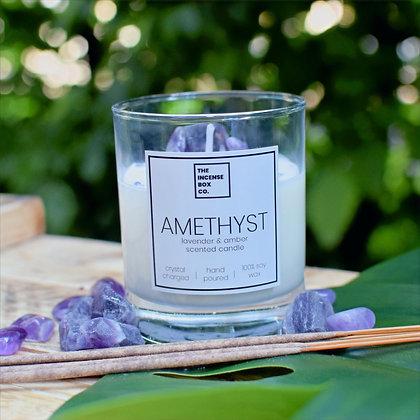Amethyst Candle & Incense Sticks
