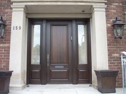 Bourassa Custom Wood Door Entry #1