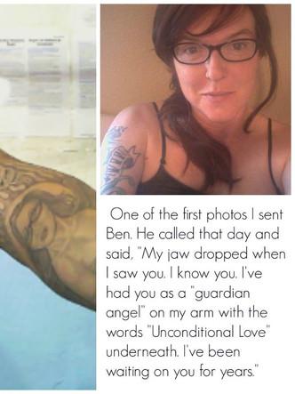 Jo and Ben - Tattoo that looks like Jo -