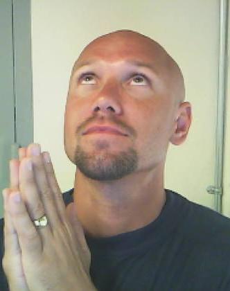 Ben - Skype shot 11 - funny prayer pose