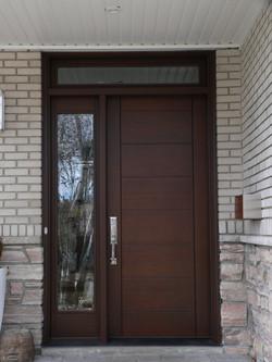 Bourassa Custom Wood Door Entry #2