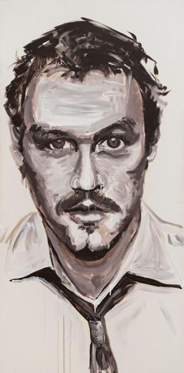 Heath Ledger, 2013, synthetic polymer on canvas, 183 x 91.5 cm