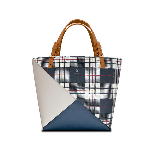 Colour Block | Navy Checkered CB-05