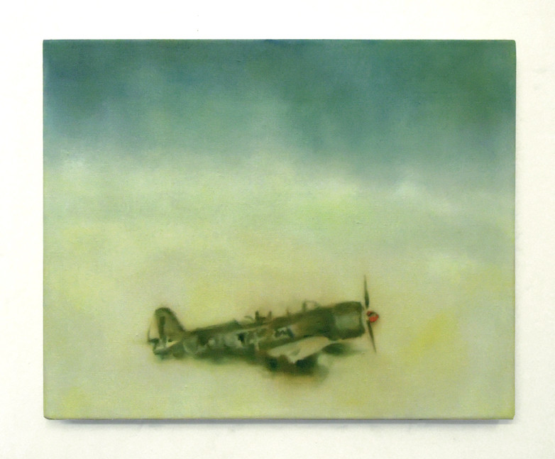 the victim, kirsty harris, oil painting, war plane, china, nuclear test, atomic bomb,