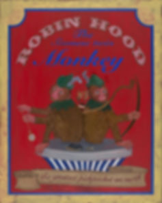 kirsty harris, monkey painting, sideshow, art, artist, siamese twin, robin hood