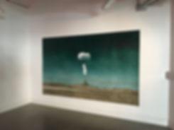 atom bomb,kirsty harris, cold war, vegas, desert art, artist, london, mushroom cloud, oil painting, painting,