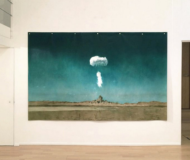 atomic bomb, explosion, kirsty harris, art, artist, solo award