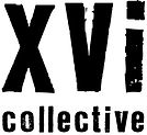 the xvi collective logo which links to our website. xvi collective started in 2012 and the artists collaborated having exhibitions in London, Barcelona, New York.