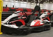 Go kart at Fast Track Indoor Karting in Edmonton