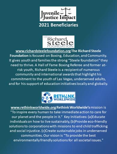 2021 Annual Juvenile Justice Impact Gala Beneficiaries