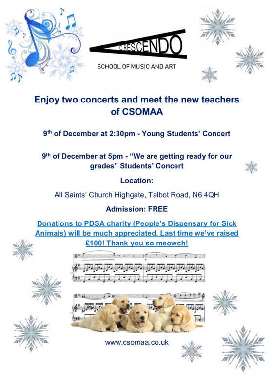 CSOMAA Students' Concerts 9th of December 2018