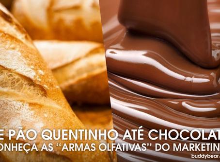 """Seja de chocolate ou pão quente, os cheiros são as """"novas armas"""" do Marketing pra atrair v"""