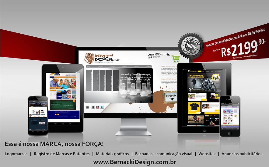 Website Personalizado com Rede Social