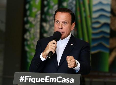 Governador Doria estende quarentena em São Paulo até 22 de abril