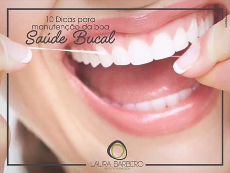 10 dicas para a manutenção de uma boa saúde bucal