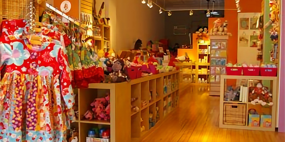 B+T Paisley Monkey Storytime & Shopping