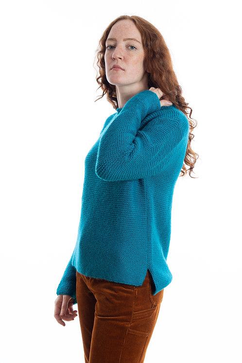 Warmer Wollpullover aus Alpaka für die Frau