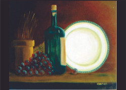 vinho e prato