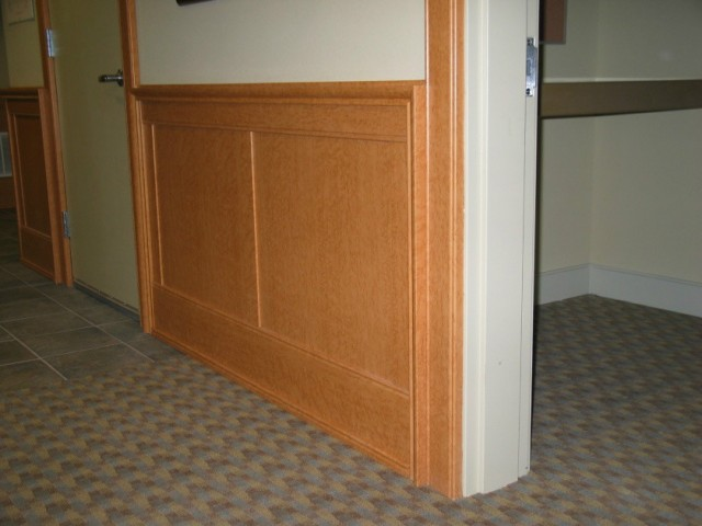 Flat Panel Wainscot, Door Casing