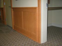 Flat Panel Wainscot, Door Casing