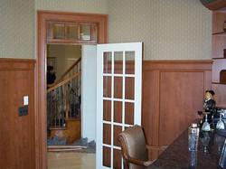 Raised Panel Wainscot, Door Casing