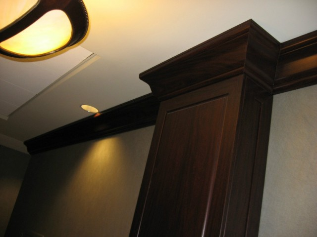 Raised Panel Wainscot, Column, Crown