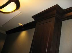 Raised Panel Wainscot, Column, Crown