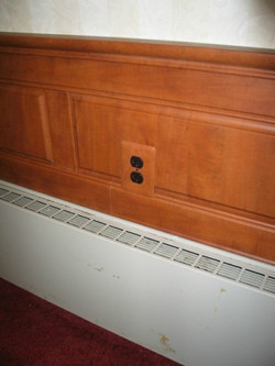 Raised Panel Wainscot, Outlet Cover